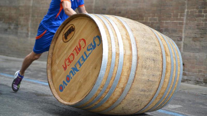 wine barrel down the road